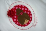 camiseta fieltro personalizada artesania hecho a mano camafeo pompom tonos rojo-004