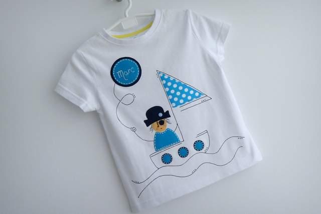 camiseta artesanal personalizada a mano pirata chico y pirata chica