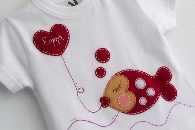 camiseta fieltro personalizada artesania hecho a mano besuguilla 001