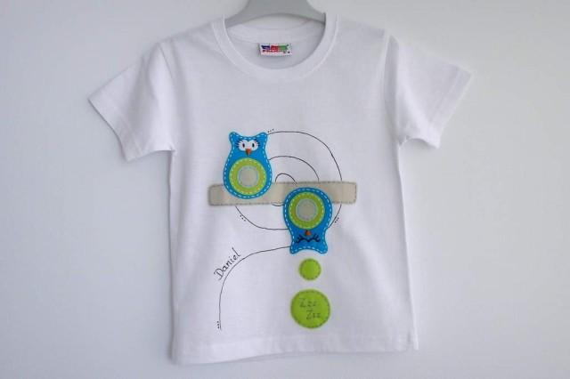 camiseta-personalizada-fieltro-a-mano-artesania-buho durmiente