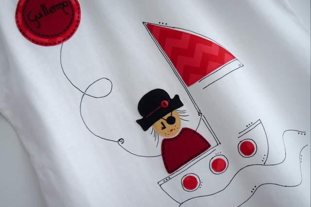 camiseta personalizada fieltro artesanal pirata-001