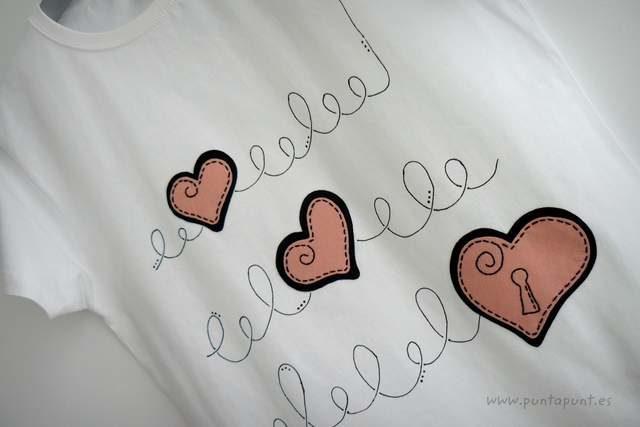 camiseta artesanal donde esta la llave rosa punt a punt 001-001