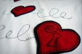 camiseta fieltro personalizada artesania hecho a mano donde esta la llave 02