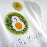 camiseta fieltro personalizada artesania hecho a mano kikirikiii 04
