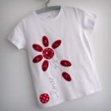 camiseta fieltro personalizada artesania hecho a mano me quiere no me quiere 02