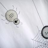 camiseta fieltro personalizada artesania hecho a mano spider 03