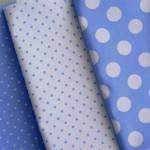 combinado azul tejano blanco - pique
