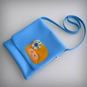 bolso bandolera simil piel mini coquetona artesania hecho a mano-010