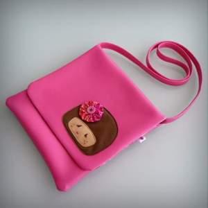 bolso bandolera simil piel mini coquetona artesania hecho a mano-012