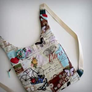bolso mochila  modelo ergonomik de tela y simil piel de punt a punt-006