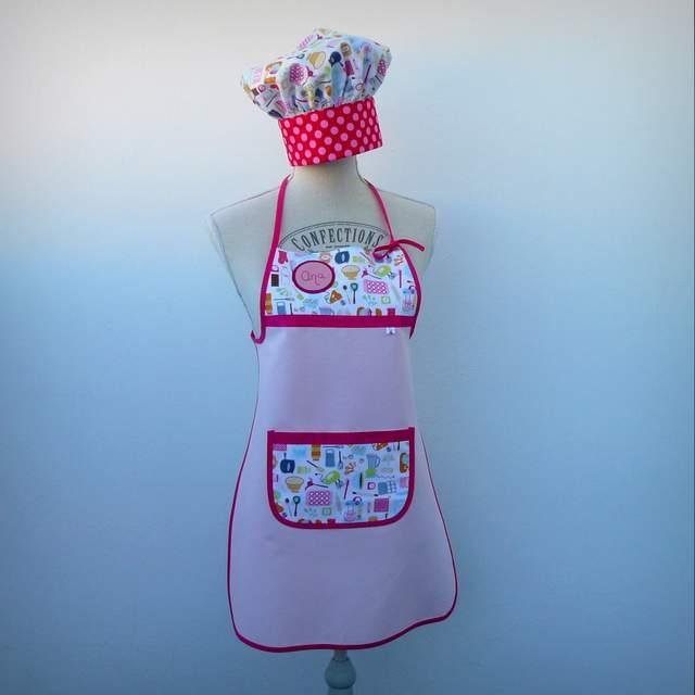 set delantal y gorro cocinero infantil-002