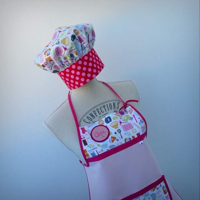 set delantal y gorro cocinero infantil-003