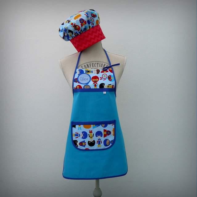 set infantil delantal gorro cocinero-001