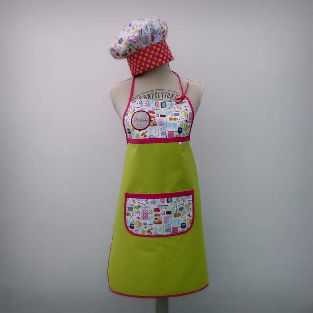 set infantil delantal gorro cocinero-002