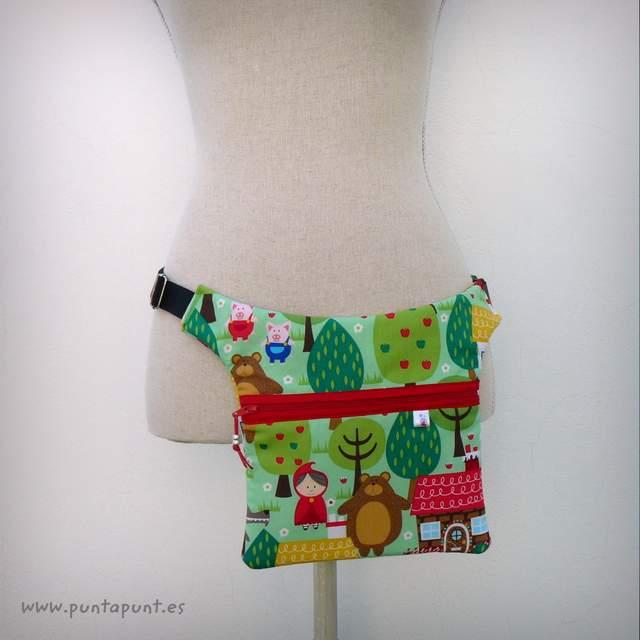 bolso para cintura personalizado estampado caperucita punt a punt-001
