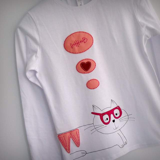 camiseta artesania personalizada fieltro fashion victim-005