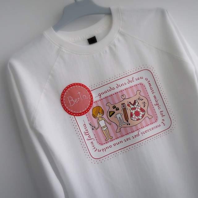 camisetas fallera artesanal personalizada con nombre 003
