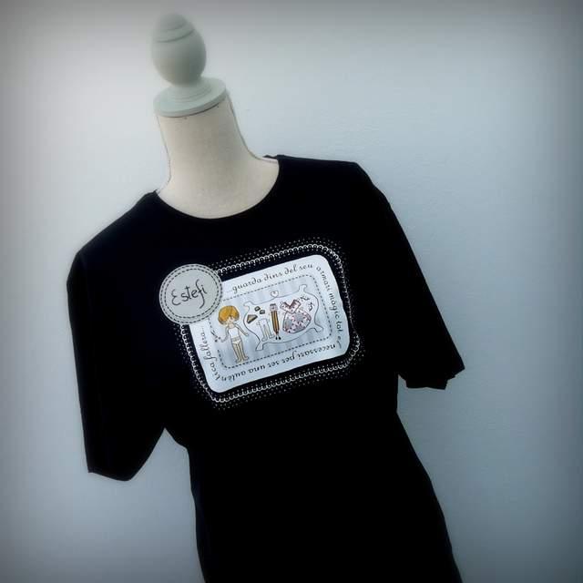 camisetas fallera artesanal personalizada con nombre 007