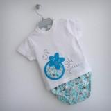 set camiseta personalizada y ranita bebe estrella azul punt a punt