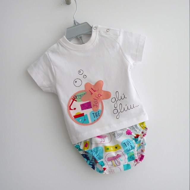 set camiseta personalizada y ranita bebe estrella sirenita rosa