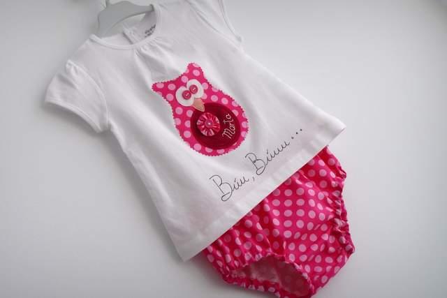 Set de camiseta y ranita bebé «Búu·Búuu»