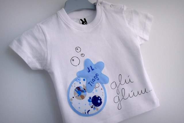 set camiseta ranita bebe artesania personalizado 010