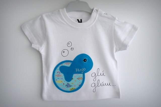set camiseta ranita bebe artesania personalizado 012