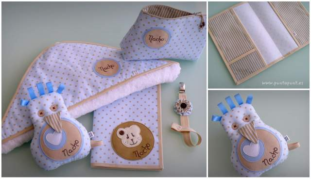 set complementos para bebe artesanal hecho a mano
