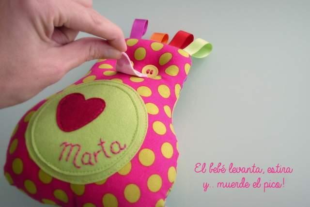 Peluche personalizado artesanal bebe 001