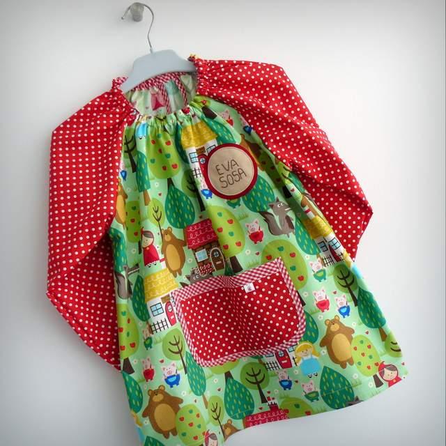 Bata escolar infantil personalizada punt a punt - Batas de casa para ninos ...