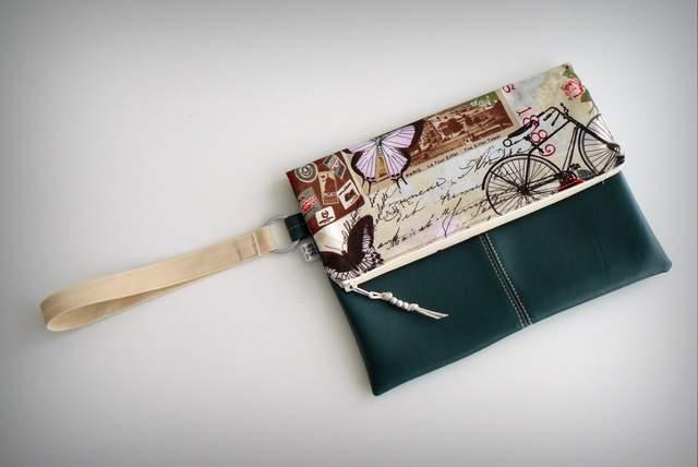 bolso de mano para mujer artesanal personalizado clutch-002