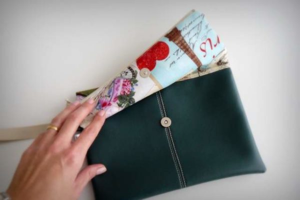 bolso de mano para mujer artesanal personalizado clutch-010