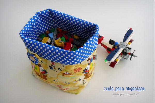 cesta organizador multiuso de tela