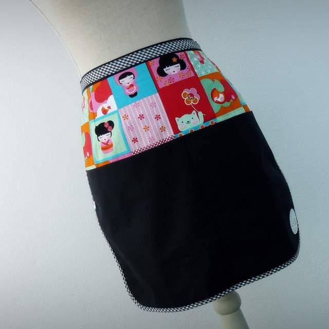 delantal de cintura para mujer personalizado artesanal-005