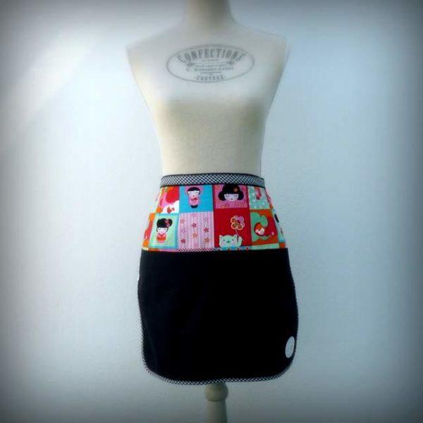 delantal de cintura para mujer personalizado artesanal-007