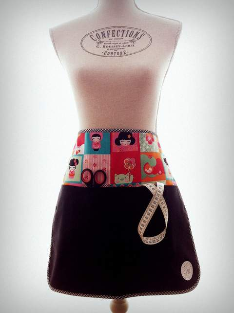 delantal personalizado de cintura puntapunt