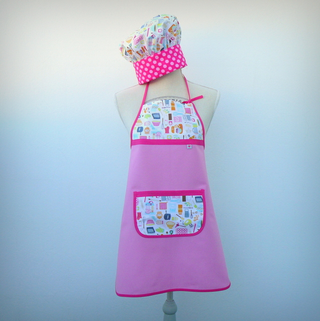 """Set cocina infantil """"Cocinillas rosa"""" talla 6-8 – en stock"""
