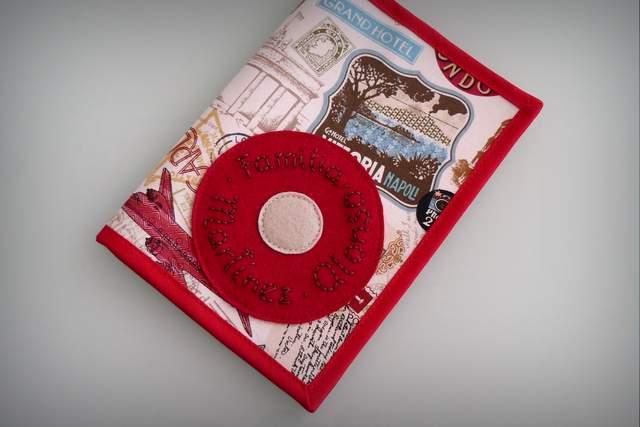 funda personalizada para libro de familia artesanal