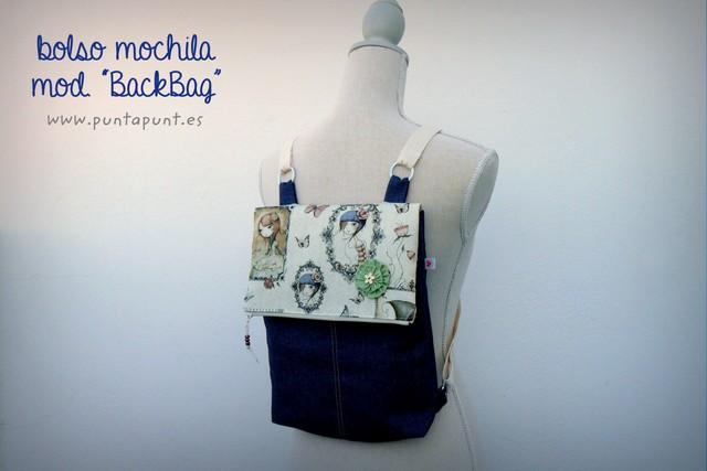 mochila comoda y ligera tejano artesanal back bag punt a punt