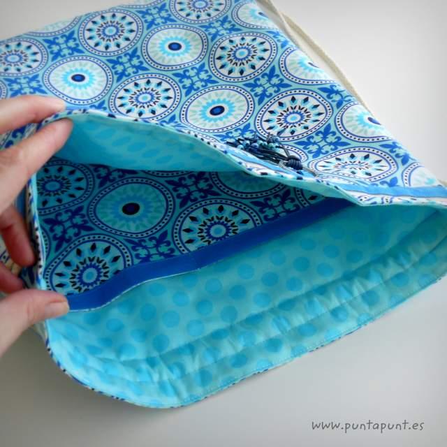 mochila para mujer moloona azul punt a punt-001