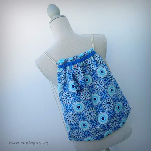 mochila para mujer moloona azul punt a punt
