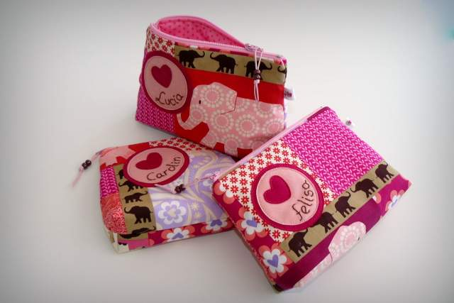 neceser pequeño para bolso personalizado artesanal