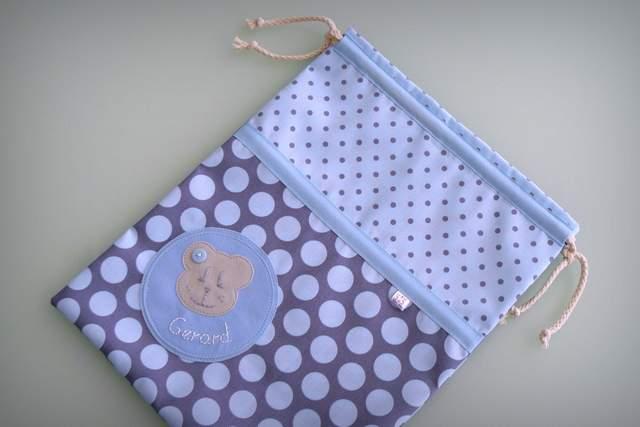 saco infantil artesanal sencillo personalizado