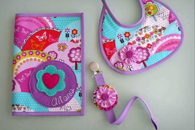 set basico para bebe artesanal personalizado