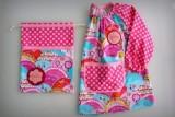 set bata escolar y saco infantil artesanal personalizado 001