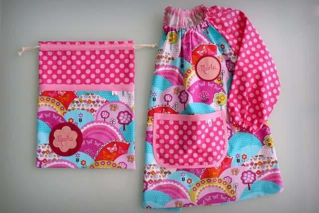 Set Bata escolar + Saco infantil personalizados