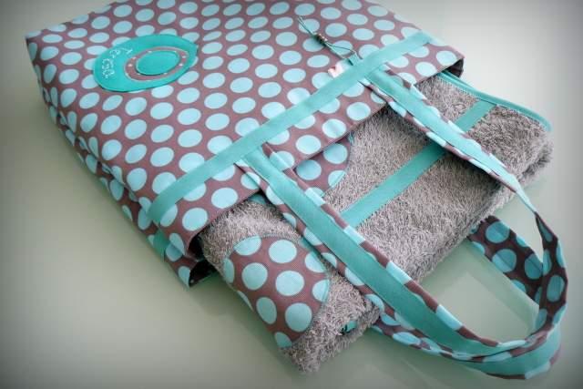 set bolso y toalla playa personalizado artesanal-001