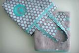 set bolso y toalla playa personalizado artesanal