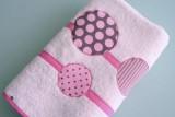 set de bolso y toalla para chica personalizado artesanal