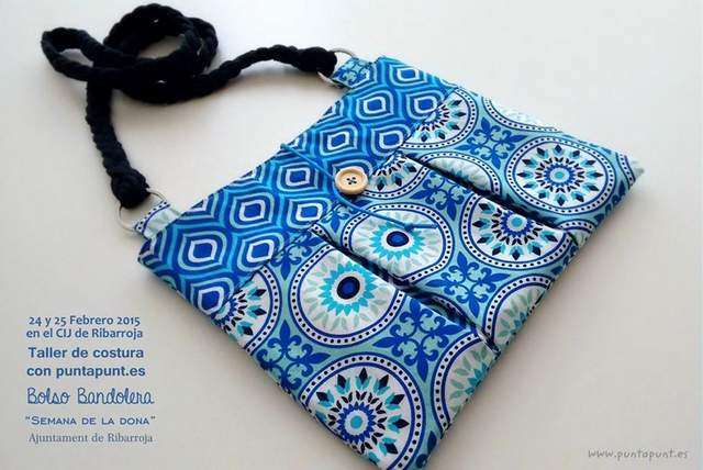 taller de costura bolso bandolera semana de la dona 2015